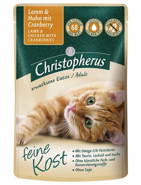 Katzen Nassfutter » Christopherus PB«, 12 Beutel à 85 g