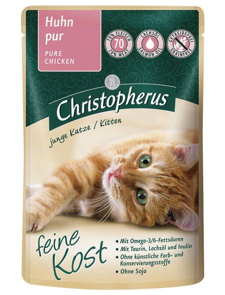 Katzen Nassfutter » Christopherus PB Kitten«, 12 Beutel à 85 g