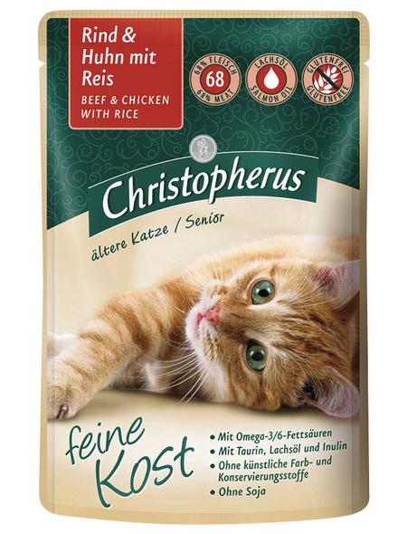 Katzen Nassfutter » Christopherus PB Senior«, 12 Beutel à 85 g