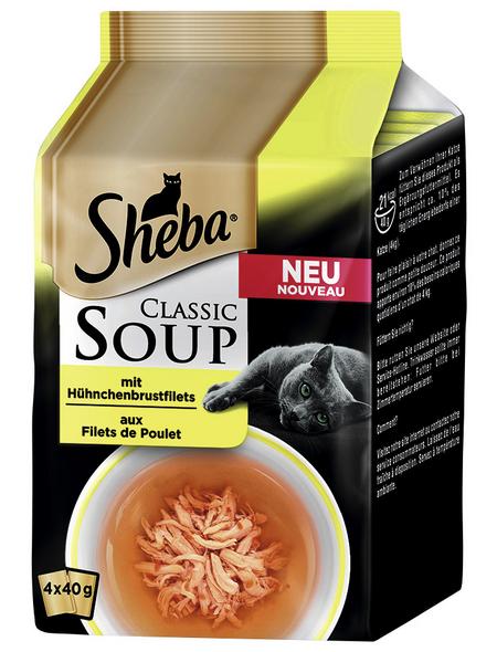 SHEBA Katzen Nassfutter »Classic Soup«, Huhn, 12x1,92 kg