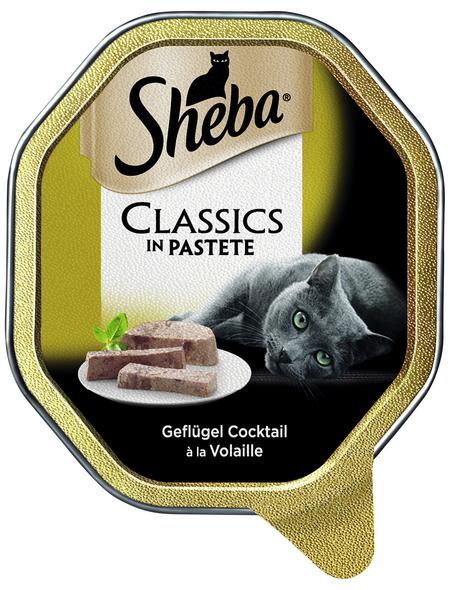 SHEBA Katzen Nassfutter »Classics«, Geflügel, 22x85 g