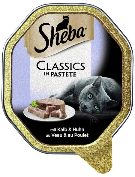 SHEBA Katzen Nassfutter »Classics«, Kalb / Huhn, 22 x 85 g