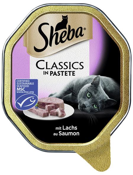 SHEBA Katzen Nassfutter »Classics«, Lachs, 22x85 g