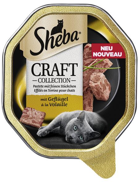SHEBA Katzen Nassfutter »Craft Collection«, Geflügel, 22x85 g