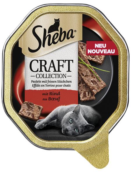 SHEBA Katzen Nassfutter »Craft Collection«, Rind, 22x85 g