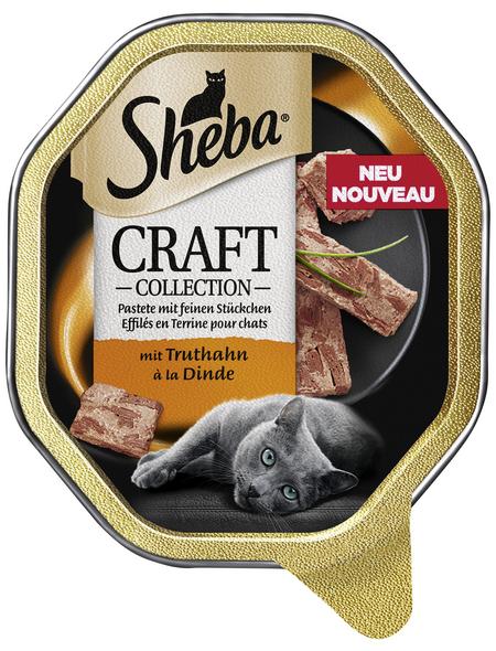 SHEBA Katzen Nassfutter »Craft Collection«, Truthahn, 22x85 g