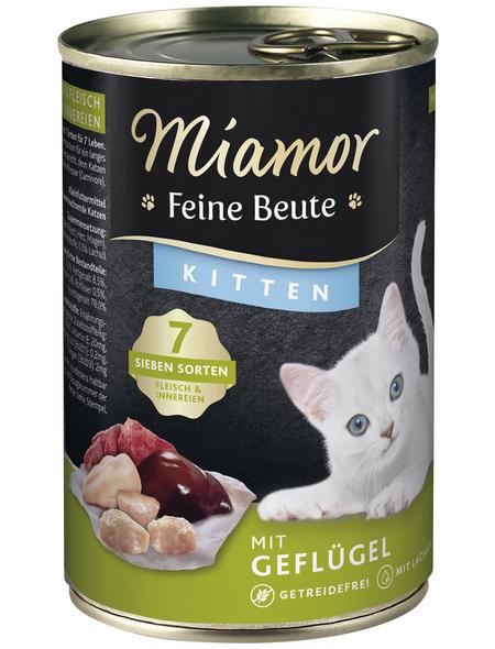 MIAMOR Katzen Nassfutter »Feine Beute«, Geflügel, 12 x 400 g