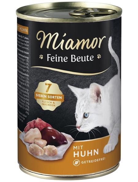 MIAMOR Katzen Nassfutter »Feine Beute«, Huhn, 12x400 g