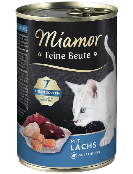 MIAMOR Katzen Nassfutter »Feine Beute«, Lachs, 12x400 g