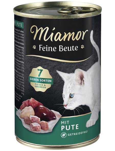 MIAMOR Katzen Nassfutter »Feine Beute«, Pute, 12 x 400 g