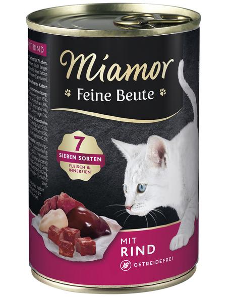 MIAMOR Katzen Nassfutter »Feine Beute«, Rind, 12 x 400 g