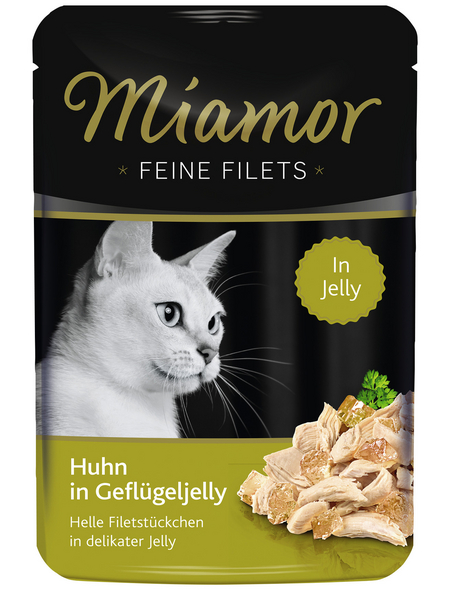 MIAMOR Katzen Nassfutter »Feine Filets in Jelly«, Huhn, 24x100 g