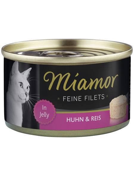 MIAMOR Katzen Nassfutter »Feine Filets in Jelly«, Huhn / Reis, 24x100 g