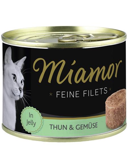 MIAMOR Katzen Nassfutter »Feine Filets in Jelly«, Thunfisch / Gemüse, 12 x 185 g