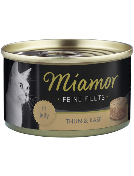 MIAMOR Katzen Nassfutter »Feine Filets in Jelly«, Thunfisch / Käse, 24x100 g