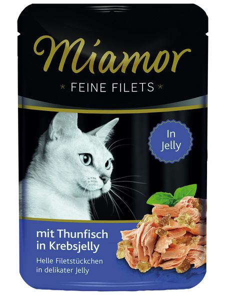 MIAMOR Katzen Nassfutter »Feine Filets in Jelly«, Thunfisch / Krebs, 24 x 100 g