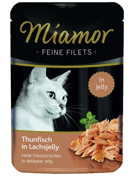 MIAMOR Katzen Nassfutter »Feine Filets in Jelly«, Thunfisch / Lachs, 24x100 g