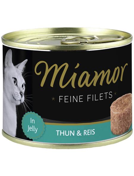 MIAMOR Katzen Nassfutter »Feine Filets in Jelly«, Thunfisch / Reis, 12x185 g