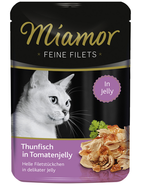 MIAMOR Katzen Nassfutter »Feine Filets in Jelly«, Thunfisch / Tomate, 24 x 100 g