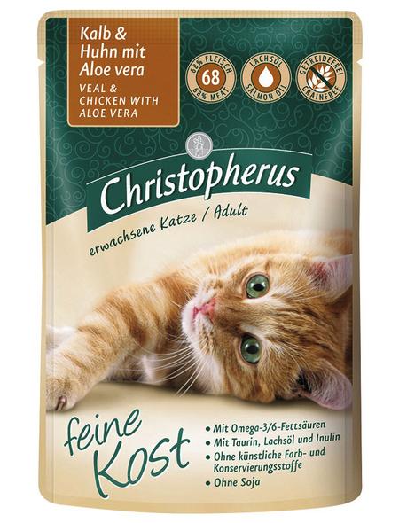 Katzen Nassfutter »Feine Kost«, 12 Beutel à 85 g