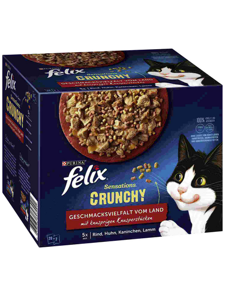 FELIX Katzen-Nassfutter »Felix Sensations Crunchy«, Felix Sensations Crunchy