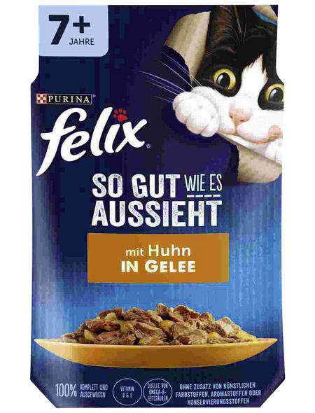 FELIX Katzen-Nassfutter »Felix So gut wie es aussieht«, Huhn