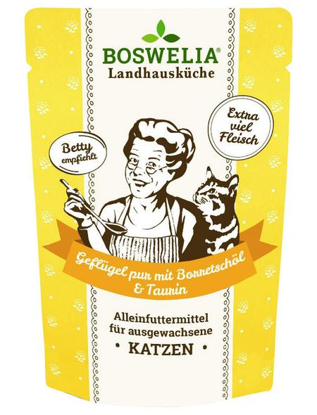 BOSWELIA Katzen-Nassfutter, Geflügel, 12 x 200g