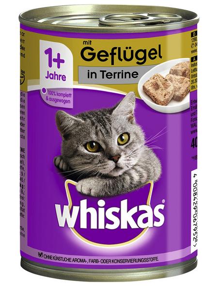 WHISKAS Katzen-Nassfutter, Geflügel, 400 g