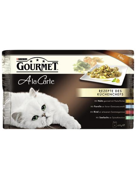 GOURMET Katzen Nassfutter »Gourmet a la Carte«, 12 Stück à 4080 g