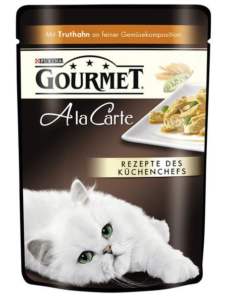 GOURMET Katzen Nassfutter »Gourmet a la Carte«, 24 Beutel à 85 g