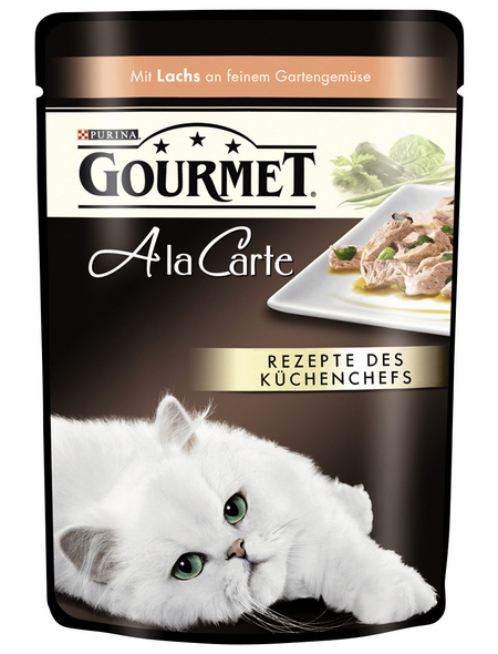 GOURMET Katzen Nassfutter »Gourmet a la Carte«, Lachs, 24x85 g