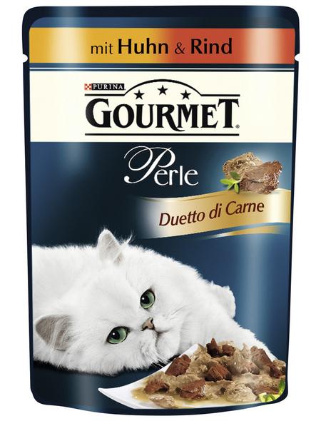 GOURMET Katzen Nassfutter »Gourmet Perle Duetto di Carne«, Huhn / Rind, 24x85 g