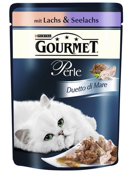 GOURMET Katzen Nassfutter »Gourmet Perle Duetto di Mare«, Lachs, 24x85 g