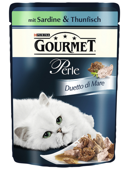 GOURMET Katzen Nassfutter »Gourmet Perle Duetto di Mare«, Sardinen / Thunfisch, 24x85 g