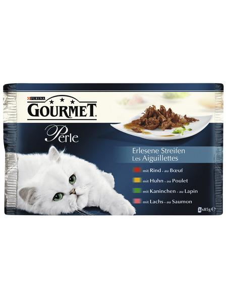 GOURMET Katzen Nassfutter »Gourmet Perle - Erlesene Streifen«, 12 Packungen à 4080 g