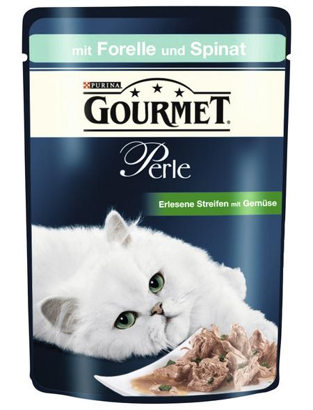 GOURMET Katzen Nassfutter »Gourmet Perle - Erlesene Streifen«, Forelle, 24x85 g