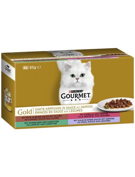 GOURMET Katzen Nassfutter »Gourmet Zarte Häppchen«, 12 Stück à 4080 g