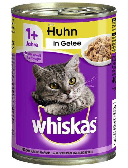 WHISKAS Katzen-Nassfutter, Huhn, 400 g