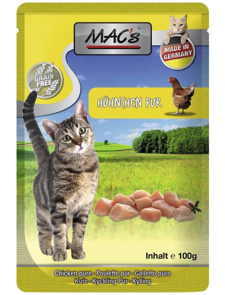 MAC'S Katzen-Nassfutter, Huhn/Kräuter, 12 x 100 g