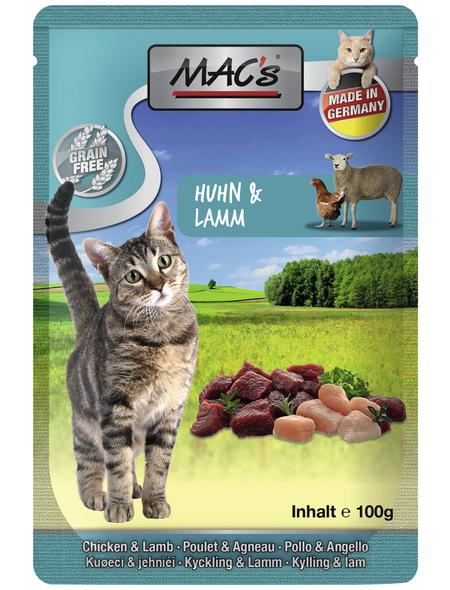 MAC'S Katzen-Nassfutter, Huhn/Lamm, 12 x 100 g