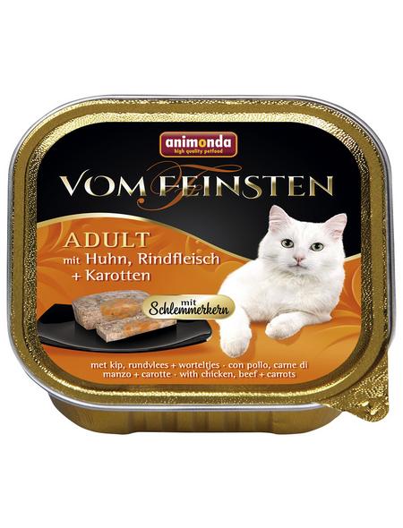 VOM FEINSTEN Katzen-Nassfutter, Huhn/Rind/Karotte, 100 g
