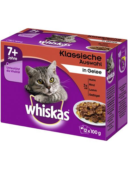 WHISKAS Katzen-Nassfutter, Huhn/Rind/Lamm/Geflügel, 1200 g