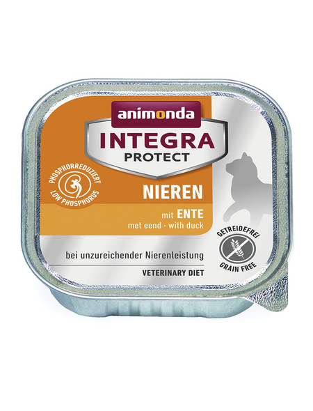 animondo Katzen Nassfutter »Integra Protect «, Ente, 16x100 g