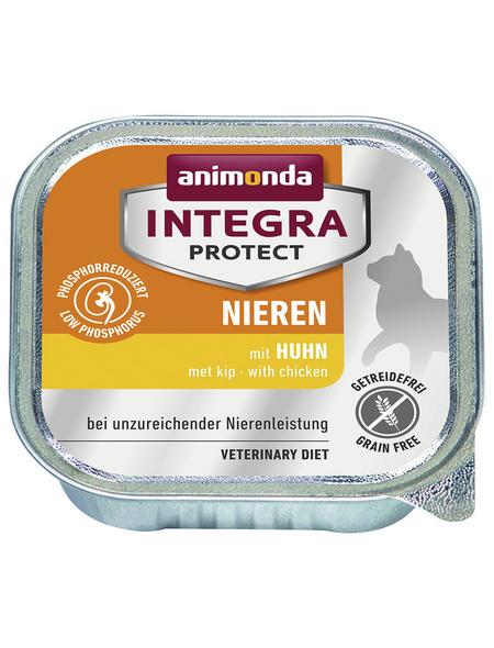 animondo Katzen Nassfutter »Integra Protect «, Huhn, 16x100 g