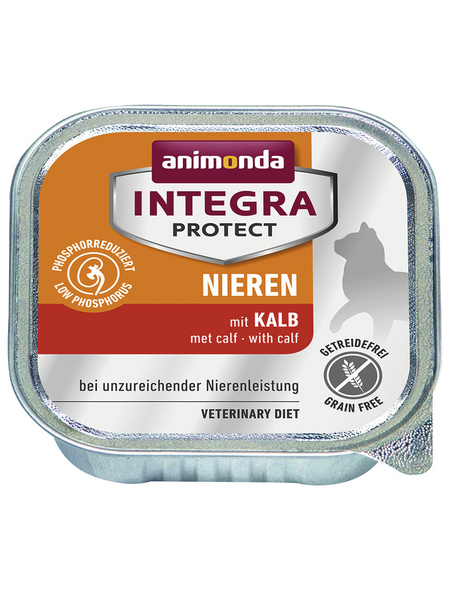 animondo Katzen Nassfutter »Integra Protect «, Kalb, 16x100 g