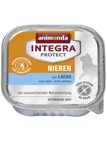 animondo Katzen Nassfutter »Integra Protect «, Lachs, 16x100 g