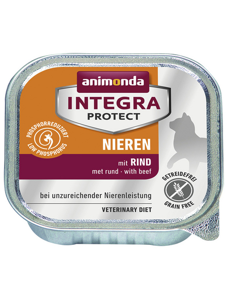 animondo Katzen Nassfutter »Integra Protect «, Rind, 16x100 g