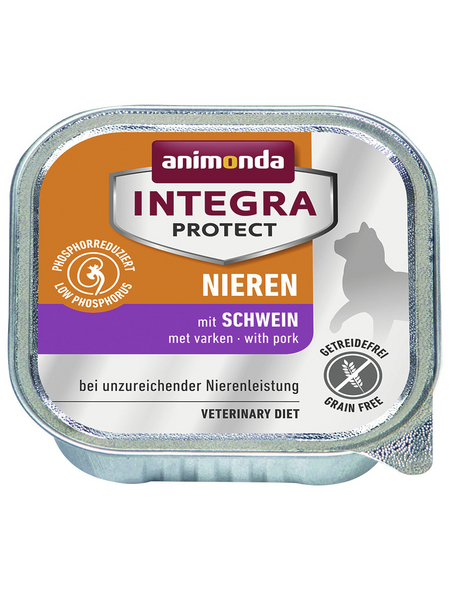 ANIMONDA Katzen Nassfutter »Integra Protect «, Schwein, 16x100 g