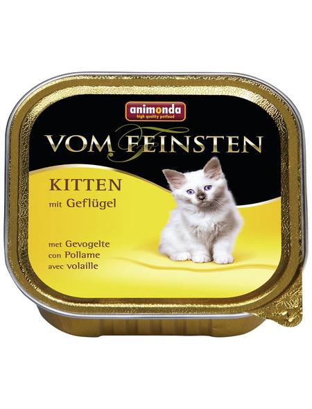 VOM FEINSTEN Katzen-Nassfutter »Kitten«, Geflügel, 100 g