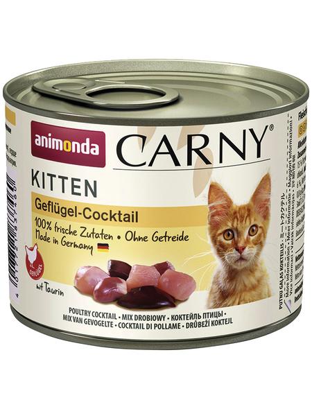 CARNY® Katzen-Nassfutter »Kitten«, Geflügel, 200 g